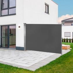 Seitenmarkise Seitenrollo Sichtschutz Windschutz Markise 180 x 300 cm Anthrazit