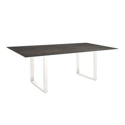 Stern Möbel Kufentisch grau, Designer Stern Design, 73x160x90 cm