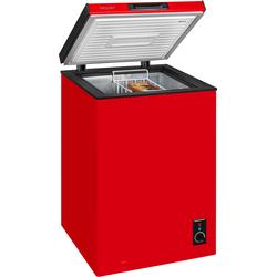 Gefriertruhe, 56,8 cm breit, 98 Liter, Gefriertruhe, 48973068-0 rot rot