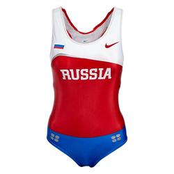 Nike Kobiety Leotard Rosja Kombinezon do lekkoatletyki 713655-611 - S