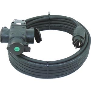 netbote24 Schuko-Verlängerungskabel mit 3-Fach Kupplung H07RN-F 3x2,5 mm2 (IP44 - Außenbereich) AC 230V / 16A 5-50m (50m)