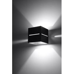 Licht-Erlebnisse Wandleuchte LORUM Wandleuchte Schwarz eckig Bauhaus Hotelleuchte Flurlampe Lampe