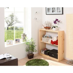 TiCAA Standregal Bücherregal Kiefer Natur H92cm