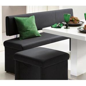 Homexperts Sitzbank (1-St), wahlweise mit Rückenlehne schwarz 180 cm x 83 cm x 54 cm