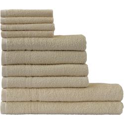 Dyckhoff Handtuch Set Kristall, mit feiner Bordüre beige Handtuch-Sets Handtücher Badetücher
