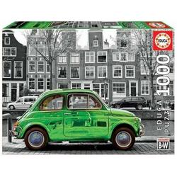 Carletto Puzzle Educa - Auto in Amsterdam 1000 Teile Puzzle, Puzzleteile
