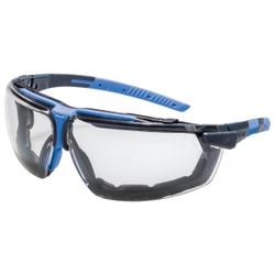 uvex i-3 guard Schutzbrille, kratzfest, beschlagfrei, Innovative metallfreie Arbeitsschutzbrille, Farbe: anthrazit / blau