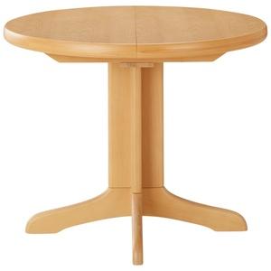 Runder Säulentisch ausziehbar ¦ holzfarben ¦ Maße (cm): H: 74  Ø: [95.0] » Möbel Kraft