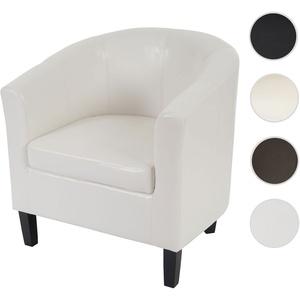 Sessel Newport T379, Loungesessel Clubsessel, Kunstleder ~ weiß