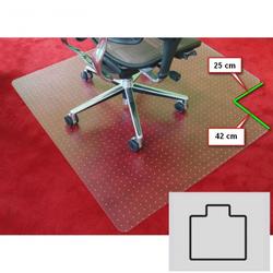 Bürostuhlunterlage für teppichböden - polycarbonat, t-form, 1500 x