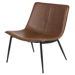 Fotel wypoczynkowy Tesana brązowa ekoskóra vintage