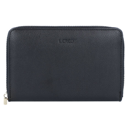 L.Credi Margarete Geldbörse Leder 15,5 cm schwarz
