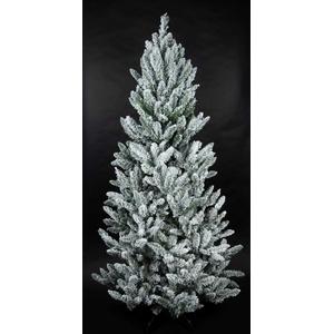 Schnee-Tannenbaum 210cm LS künstlicher Weihnachtsbaum Tannenbaum Kunststoff Schneetanne mit Metall-Ständer beschneit mit Schnee