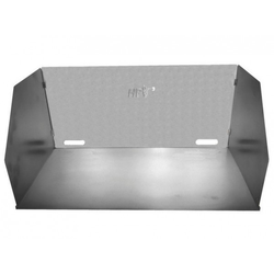 Aluminium Windschutz 65 x 38 x 30 cm