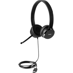 Lenovo 100 Stereo Headset USB schnurgebunden, Stereo On Ear Schwarz