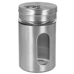 Metaltex Gewürzstreuer, 100 ml, Salz-/Pfefferstreuer aus Glas/ Inox, Maße (B x H): 5 x 8,2 cm