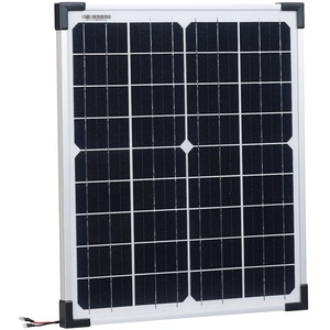 revolt Mobiles Solarmodul: Mobiles Solarpanel mit monokristallinen Solarzellen, 20 Watt (Solarpanel für Garten)