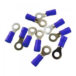 10Stk Quetsch Ring Kabelschuhe Ringöse 5mm Öhsen blau MSZS 1,5-2,5mm2 MSZS-2,5/5