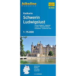 Radkarte Schwerin Ludwigslust (RK-MV04) - Fahrradkarten