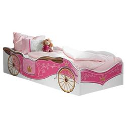 Kindermöbel 24 Bettgestell Kinderbett Zoe Kutschenmotiv rosa