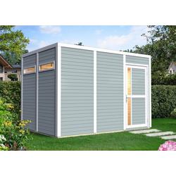 BERTILO Gartenhaus Cubus 3, BxT: 345x242 cm grau