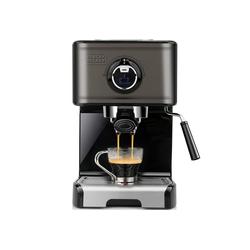 Black + Decker Espressomaschine BXCO1200E, Edelstahl-Milchaufschäumer