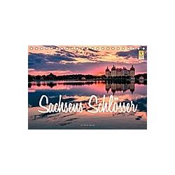 Sachsens Schlösser (Tischkalender 2021 DIN A5 quer)