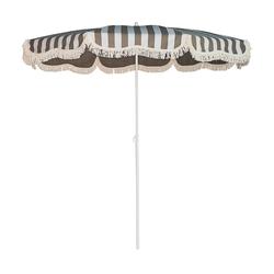Retro Sonnenschirm mit Knickgelenk ohne Schirmständer