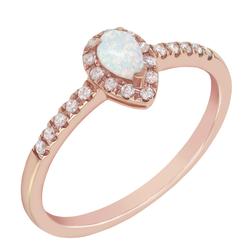 Goldring mit Opal und Diamanten Kezia