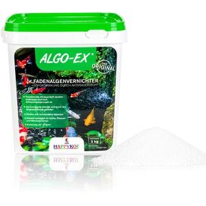Happykoi® ALGO-EX® Fadenalgenvernichter Algenmittel Algo Ex Algen Vernichter mit Sofortwirkung durch Aktivsauerstoff Koi Teich Schwimmteich - 5 kg