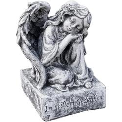 Stone and Style Engelfigur Steinfigur kleiner Engel auf Sockel frostfest