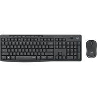 Tastatur RF Wireless QWERTY UK Englisch Schwarz