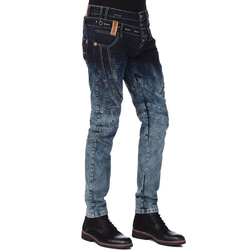 Cipo & Baxx Bequeme Jeans mit stylischem Doppelbund 30