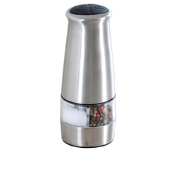 Kesper Pfeffer- & Salzmühle, elektrisch, Streuer zum Mahlen von Pfeffer und Salz, Maße (H x B x T): 18 x 6,5 x 6 mm