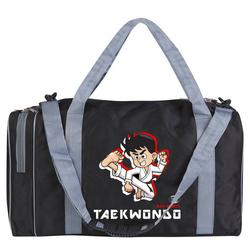 BAY-Sports Sporttasche Sporttasche für Kinder Taekwondo schwarz/grau 50