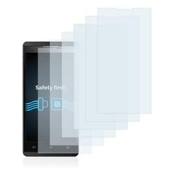 Savvies Schutzfolie für Icefox X9, (6 Stück), Folie Schutzfolie klar