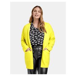 Langer Strick-Cardigan Samoon Blazing Yellow