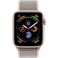 Apple Watch Series 4 (GPS + Cellular) 44mm Aluminiumgehäuse gold mit Loop Sportarmband sandrosa