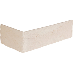 ELASTOLITH Verblender Rhodos Eckverblender, BxL: 11,5x7,1 cm, (Set, 24-tlg) cremeweiß, für Innen- und Aussenbereich, 2 Lfm