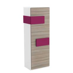 Schlafzimmer Kleiderschrank in Weiß Pink schmal