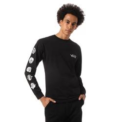 Tshirt VANS - Mn Rowan Zorilla Faces Ls Black (BLK) Größe: XL