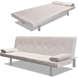 vidaXL Sofabett 2 Kissen Schlafcouch Schlafsofa Gästesofa Sofa Klappsofa Couch