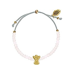 Armband - Glasperlen-Armband Schutzengel