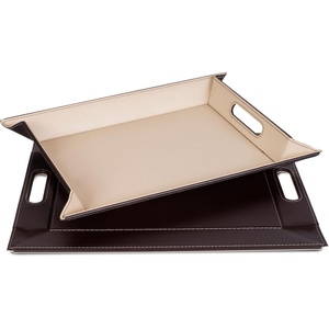 freeform Tablett, Kunstleder, (1-tlg), mit Doppelfunktion, 41 x 55 cm braun