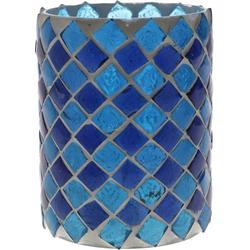 Guru-Shop Windlicht Glas Windlicht Glas blau - Design 1