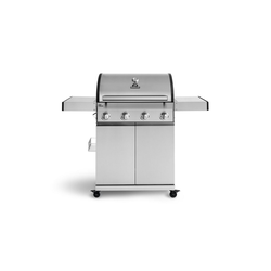 BURNHARD Gasgrill 4-Brenner Big Fred, Basic silberfarben 139.5 cm x 115 cm x 55 cm