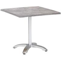 BEST Freizeitmöbel Maestro Klapptisch 80 x 80 x 73 cm silber/Beton