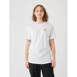 Cleptomanicx T-Shirt Zitrone Zitrone-Stickerei auf der Brust weiß L