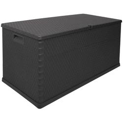 ONDIS24 Kissenbox Rattan, 420 Liter, Kunststoff grau