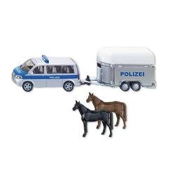 SIKU 2310 - Polizei Pkw mit Pferdeanhänger